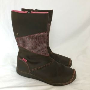 Keen Rachel Boots 6 Girls or Womens Brown Leather